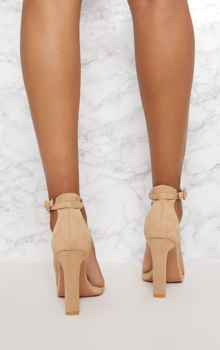 Nude Faux Suede Flat Barely There Heel 4