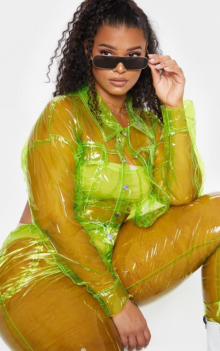 Plus Lime Transparent Crop Jacket 1