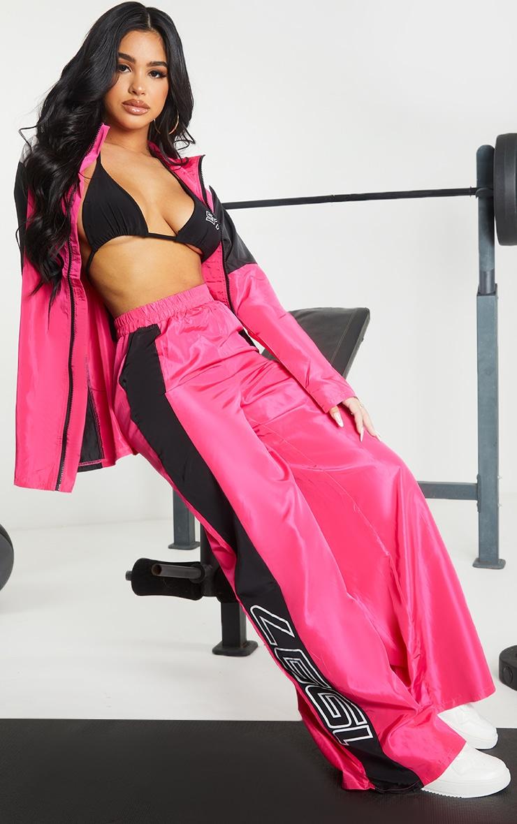 Petite Pink Nylon 1997 Straight Leg Sports Joggers 1