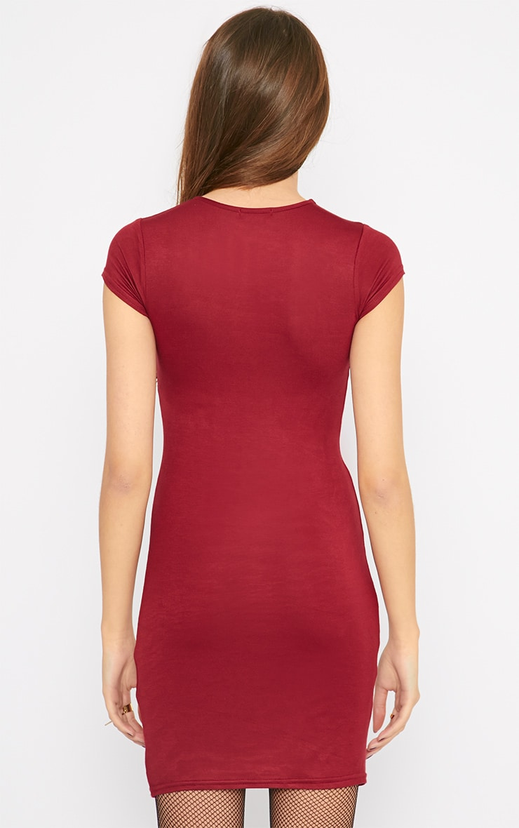 Basic Burgundy Jersey Dress 2
