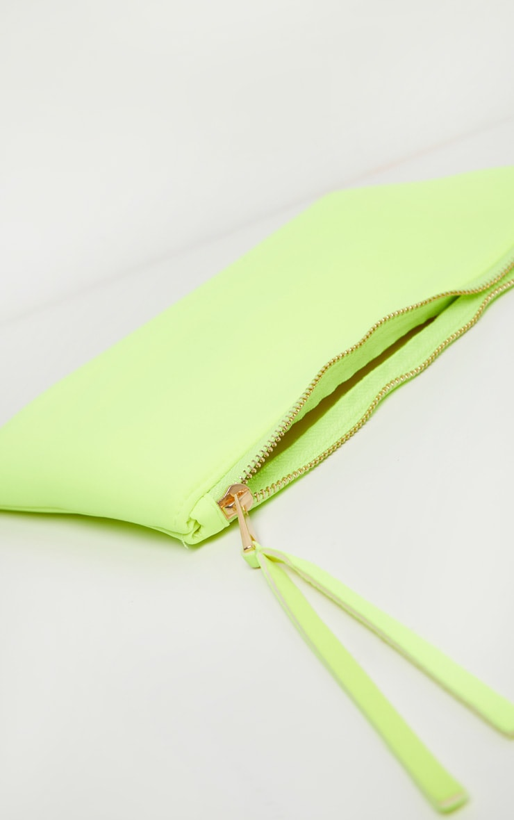 Neon Yellow Clutch Bag 4