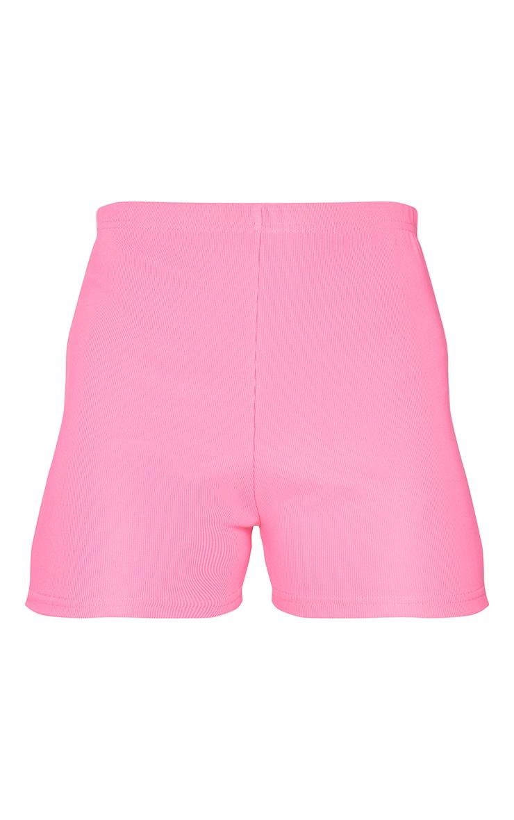 Hot Pink Power Stretch Rib Hotpants 6