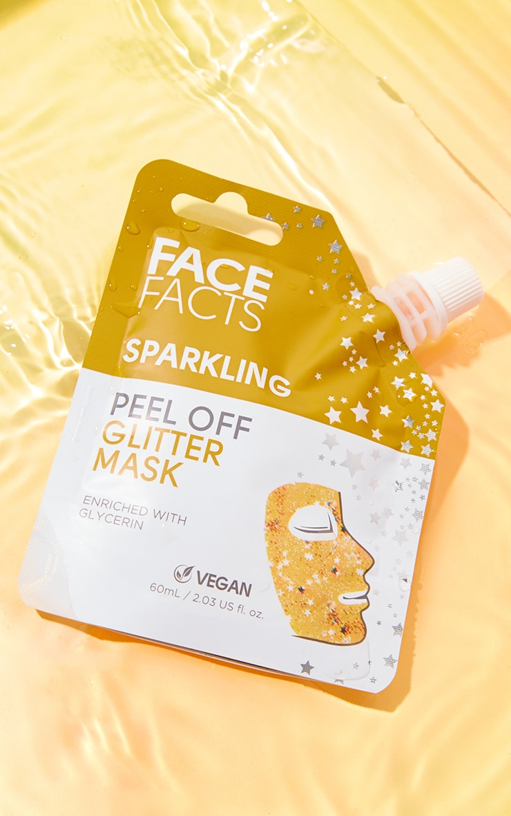 Face Facts Glitter Peel Off Mask Gold 1