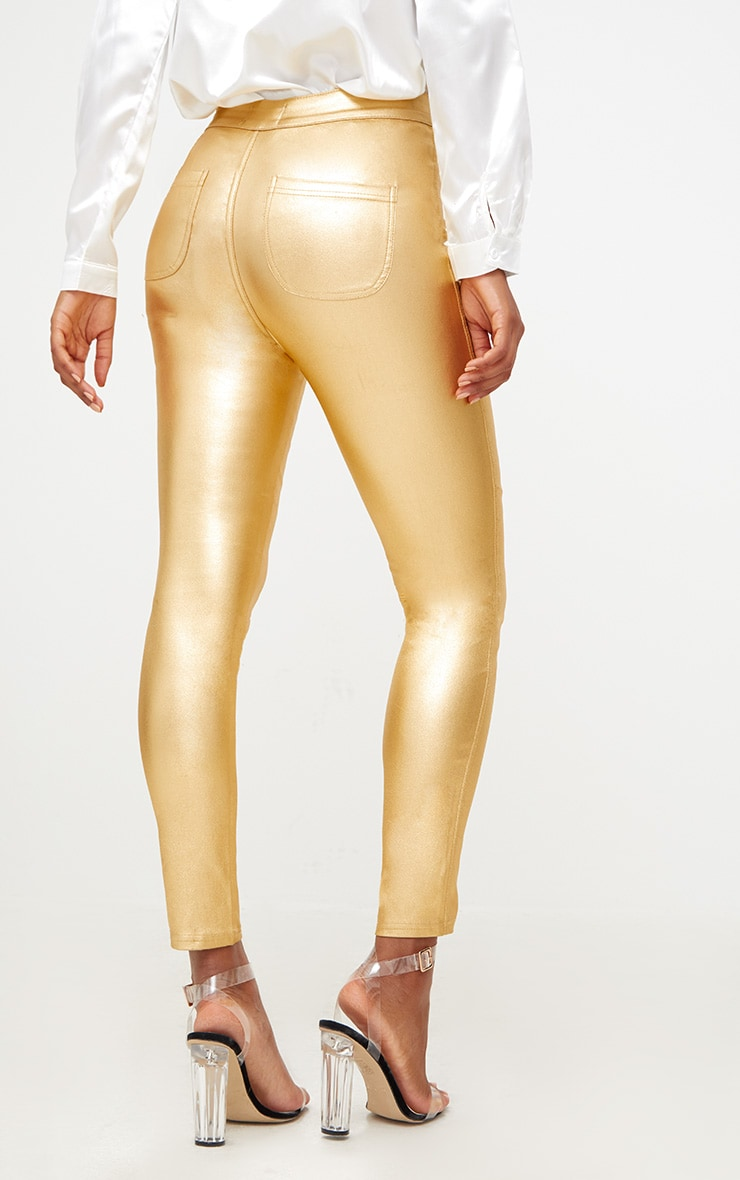 Gold Coated Disco Skinny Jean 4