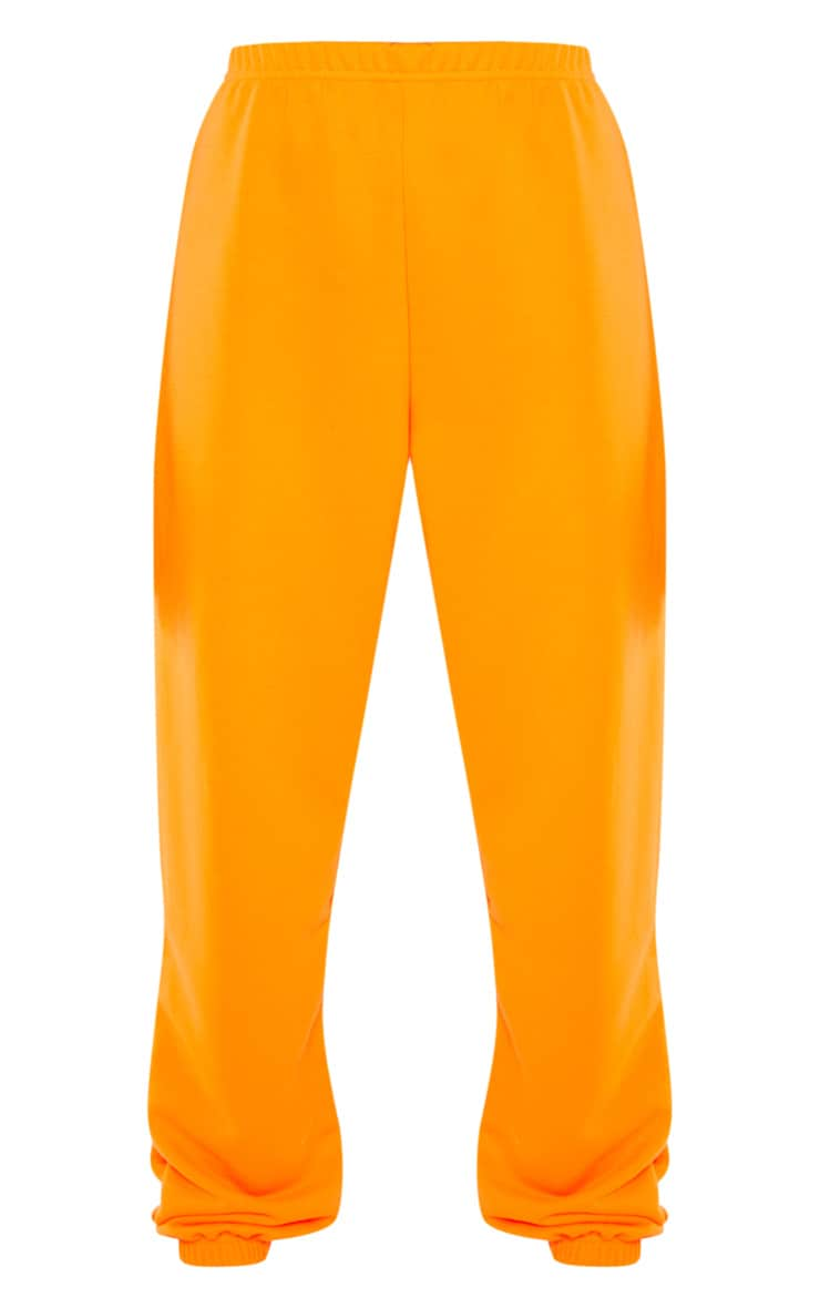 Neon Orange Basic Cuffed Hem Jogger 1