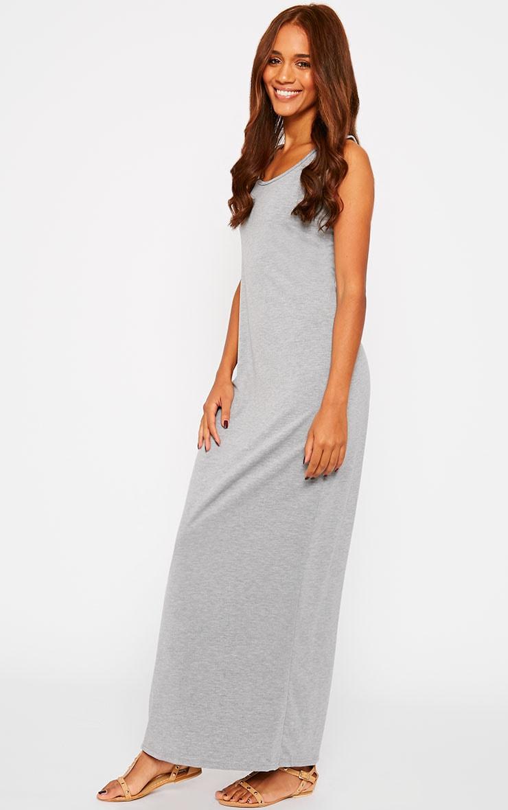 Basic Grey Jersey Maxi Dress 4