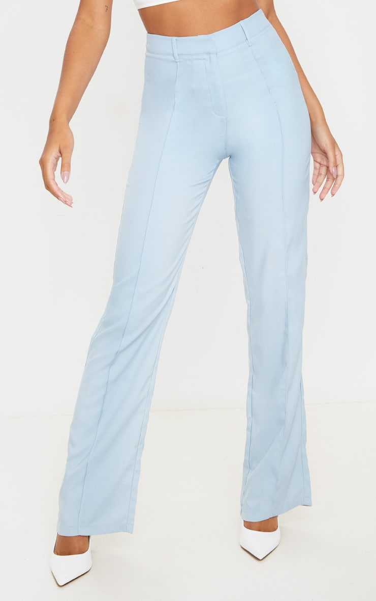 Baby Blue Anala High Waisted Straight Leg Pants 2