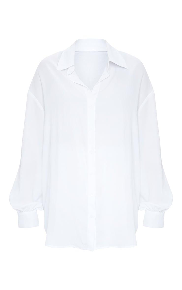 White Oversized Beach Shirt 5