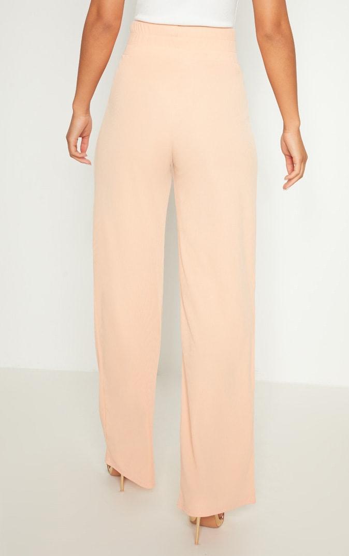 Peach Bandage Rib Wide Leg Trouser 4