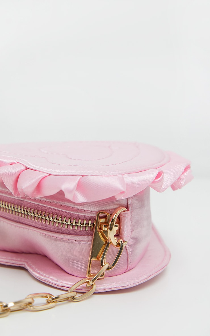 Pink Satin Heart Mini Bag 4