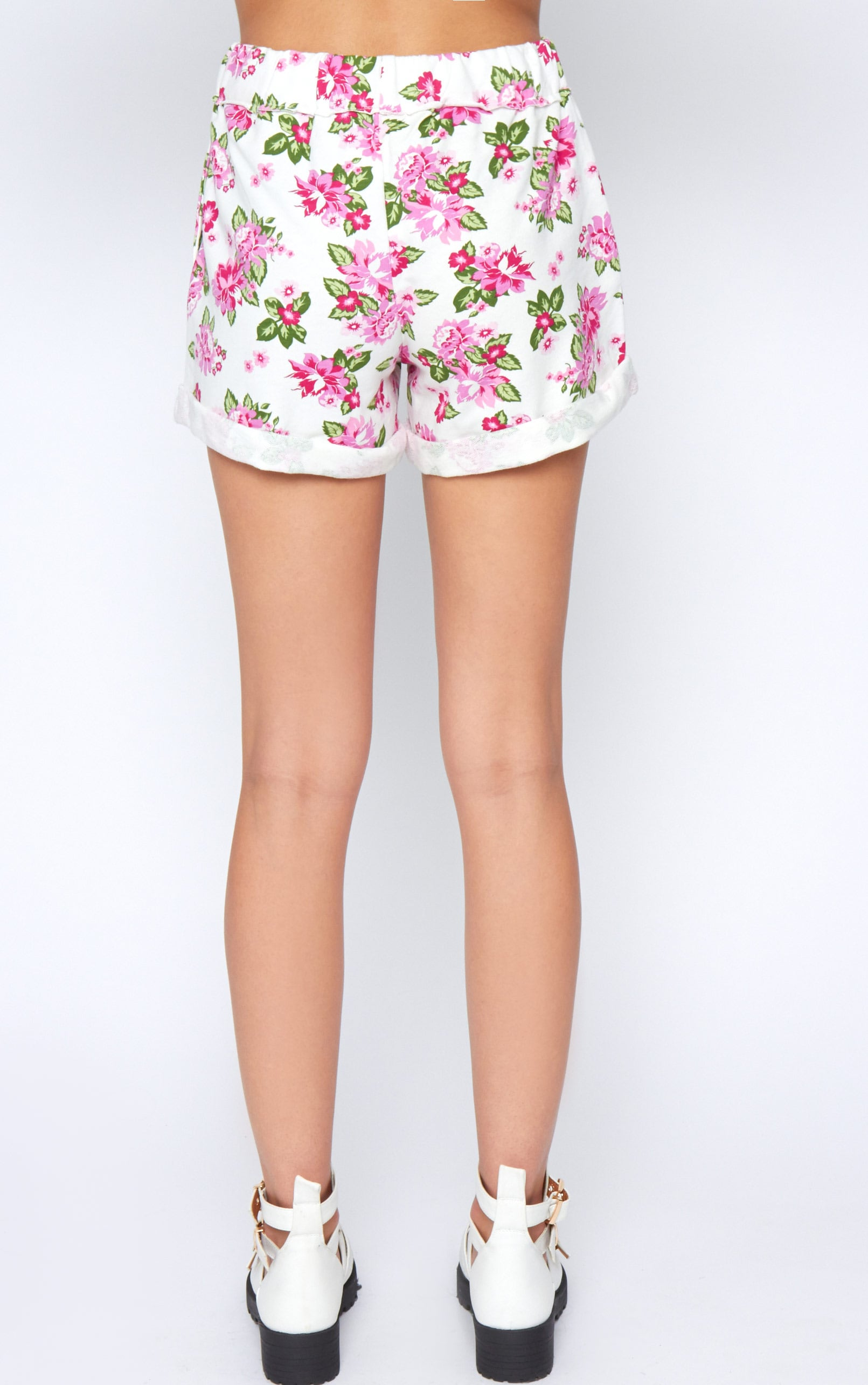 Aria White Floral Short  2