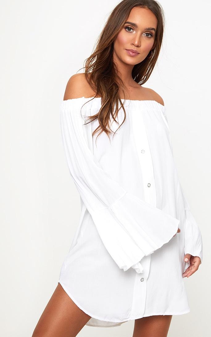 White Bardot Beachwear Shirt 1