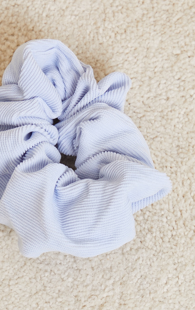 Baby Blue Oversized Cord Scrunchie 3