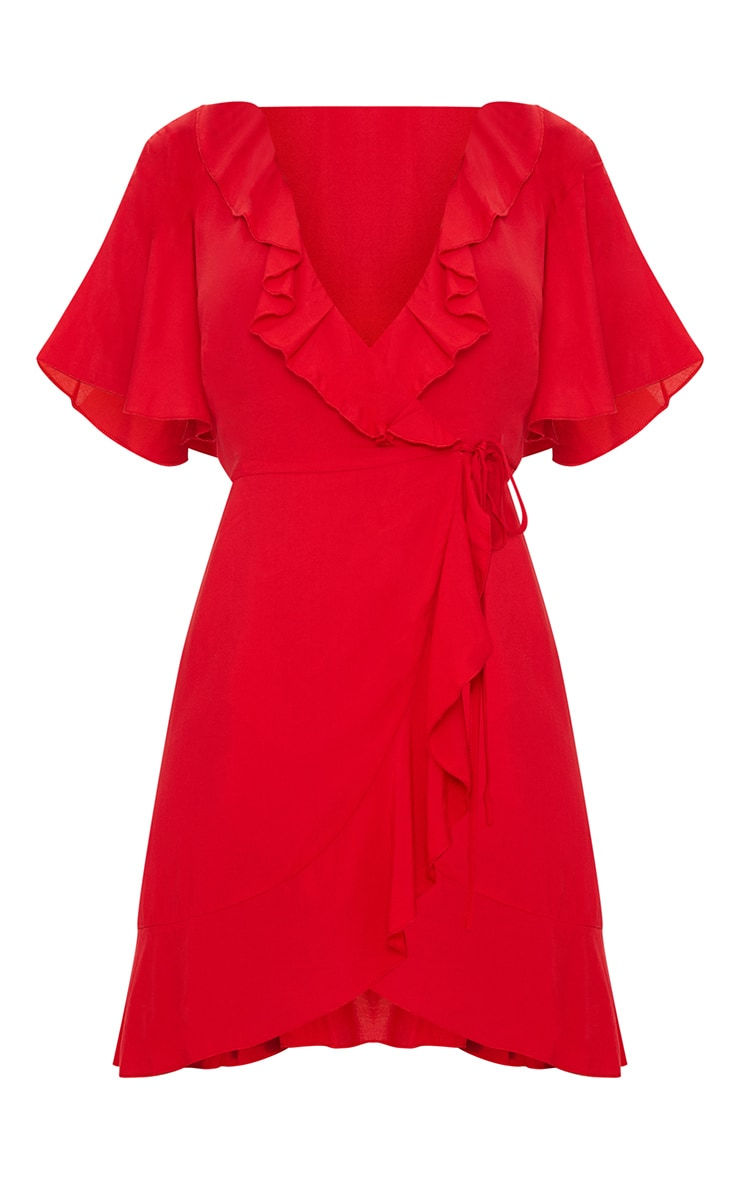 Red Wrap Tea Dress 3