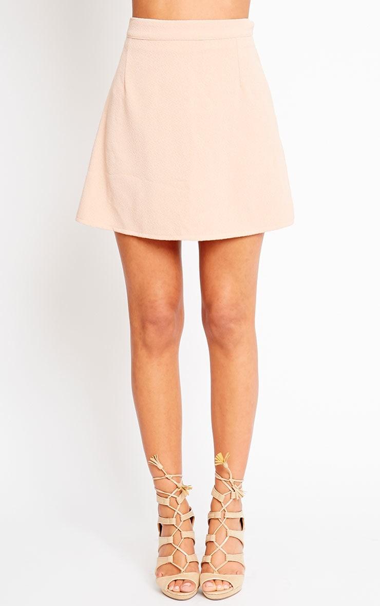 Rori Nude Crepe A Line Mini Skirt 2