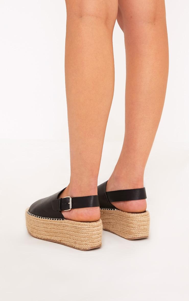 Kendyl Black Flatform Sandals 4