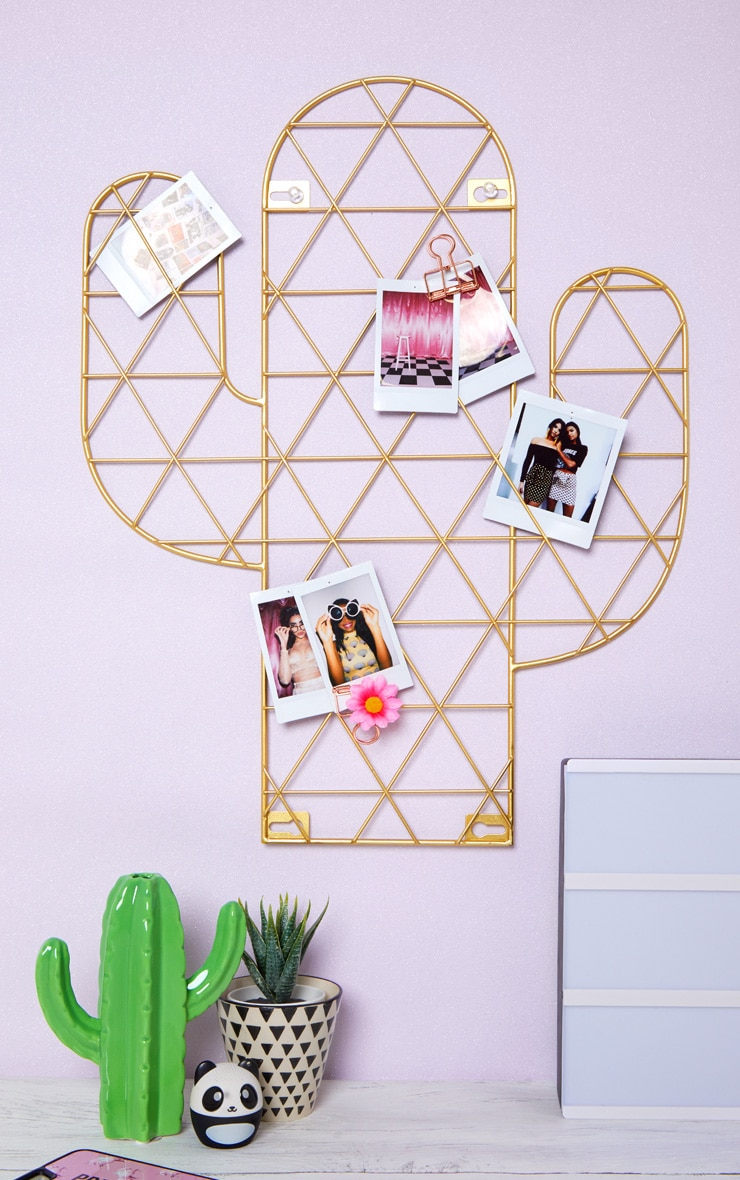 Sass And Belle Cactus Wire Wall Grid Photo Holder 1