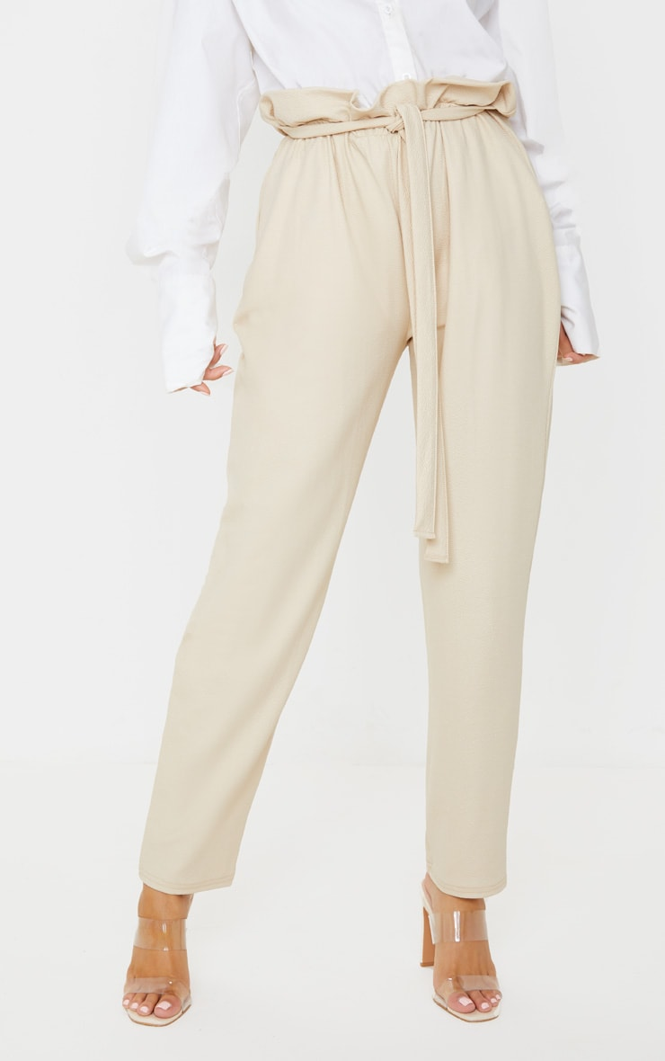 Stone Coated Paperbag Waist Pants 2