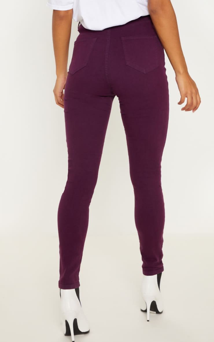 Purple Disco Fit Skinny Jean 4