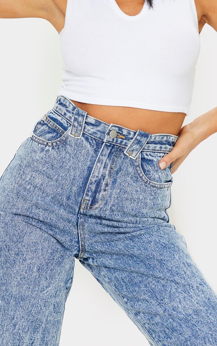Acid Blue Wash Loose Fit Jeans 4