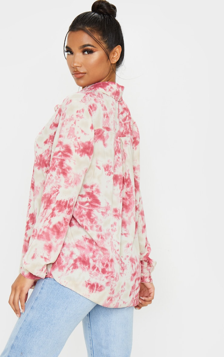Fuschia Oversized Tie Dye Shirt 2