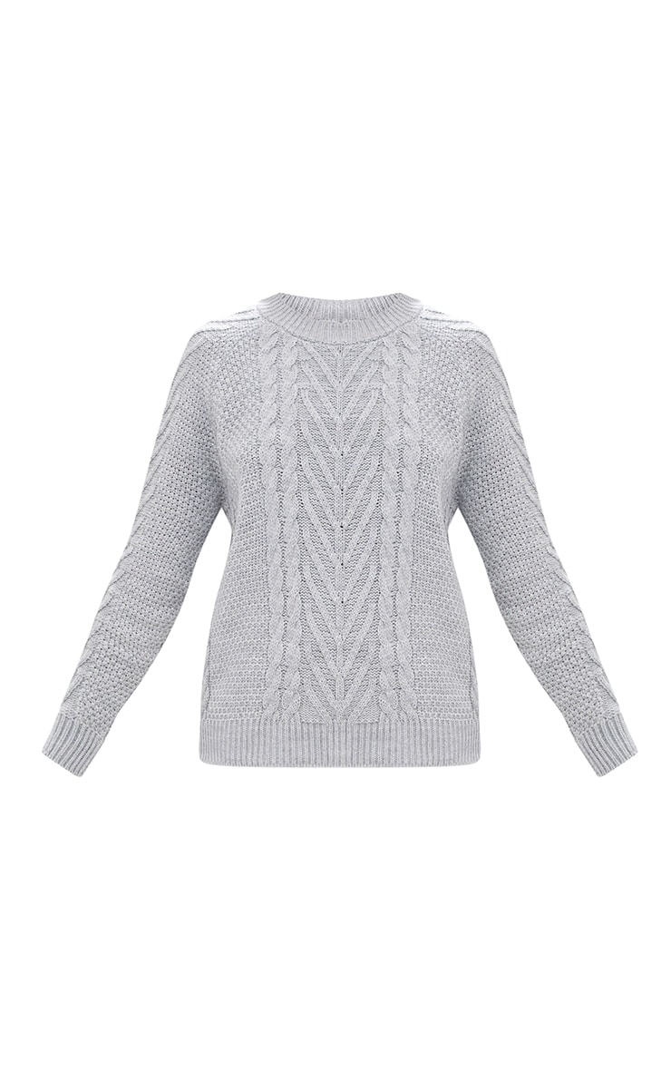 Grey Cable Knit Jumper 3