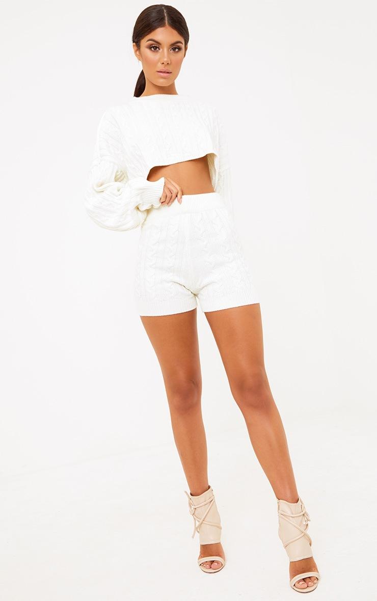 Cream Knit Short 6