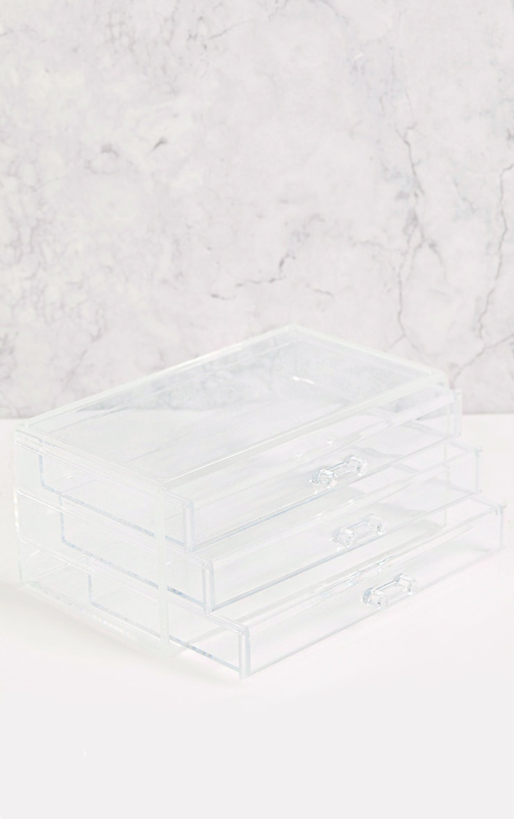 Technic Clear Three Drawer Cosmetics Organiser 2