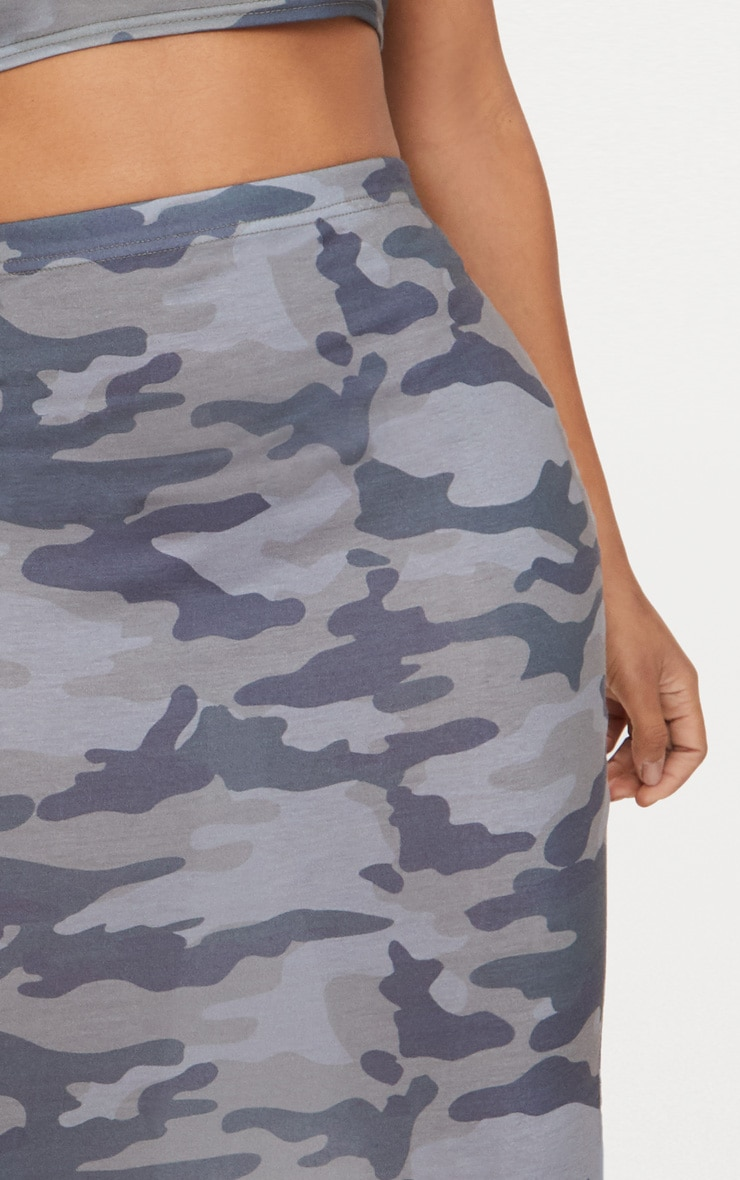 Shape Grey Camo Midi Skirt 5