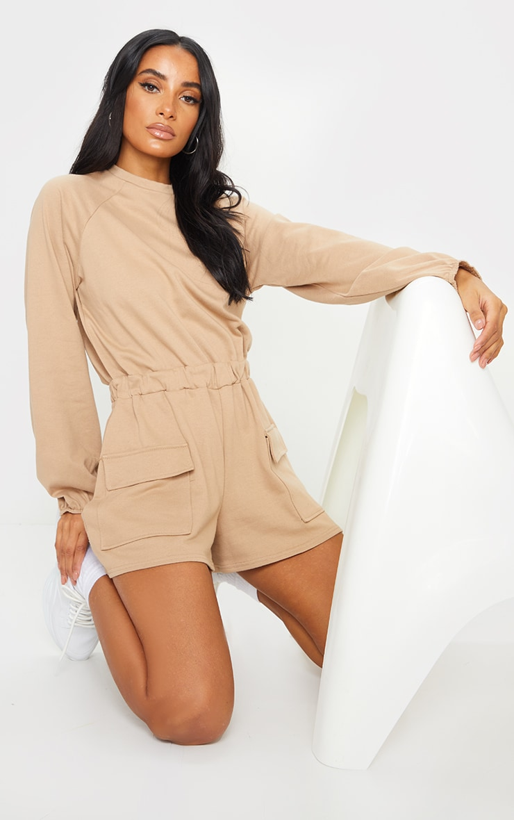 Stone Sweat Long Sleeve Pocket Romper 1