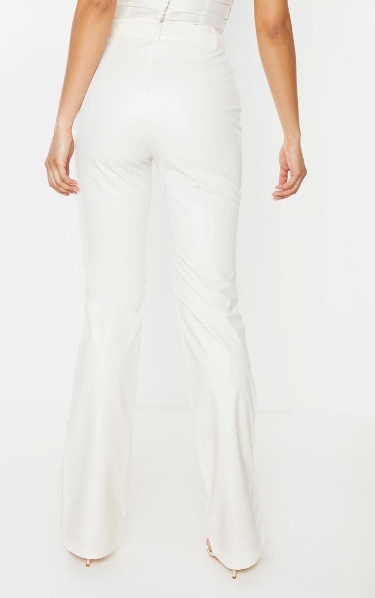 Tall White PU Straight Leg Pants 4