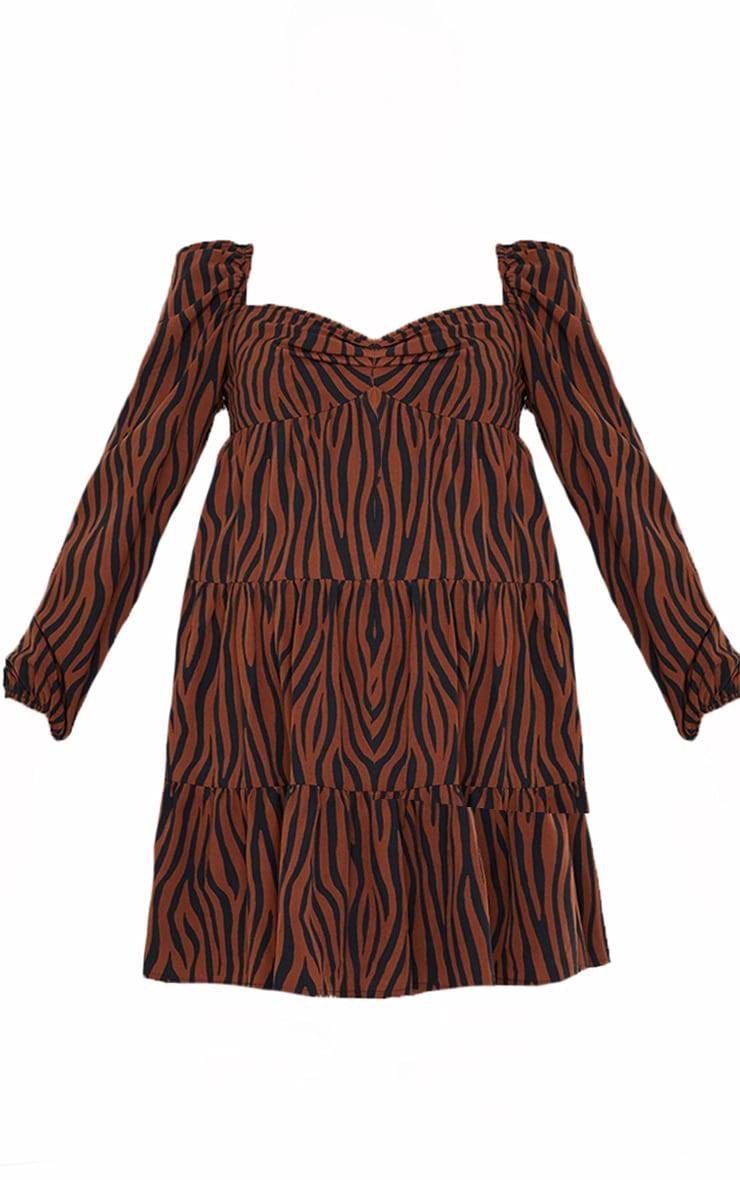 Maternity Animal Print Chiffon Smock Dress 5