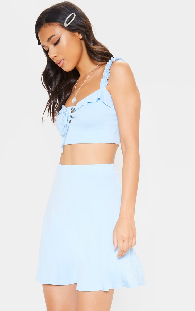 819e8951ec03 Light Blue Skater Skirt image 1