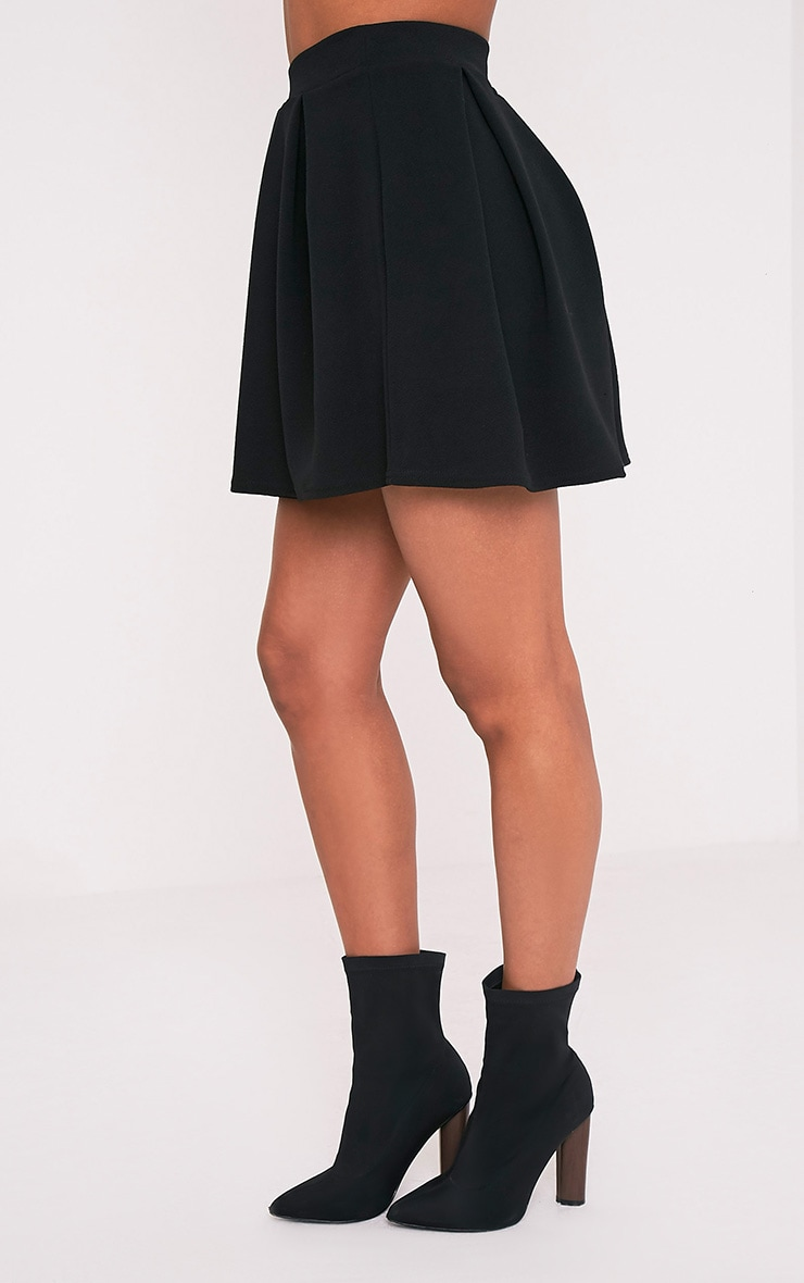 Tyra Black Box Pleat Full Mini Skirt 4