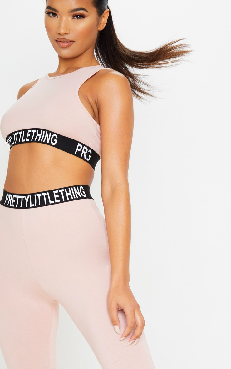 PRETTYLITTLETHING Dusty Rose Racer Neck Sleeveless Crop Top 5