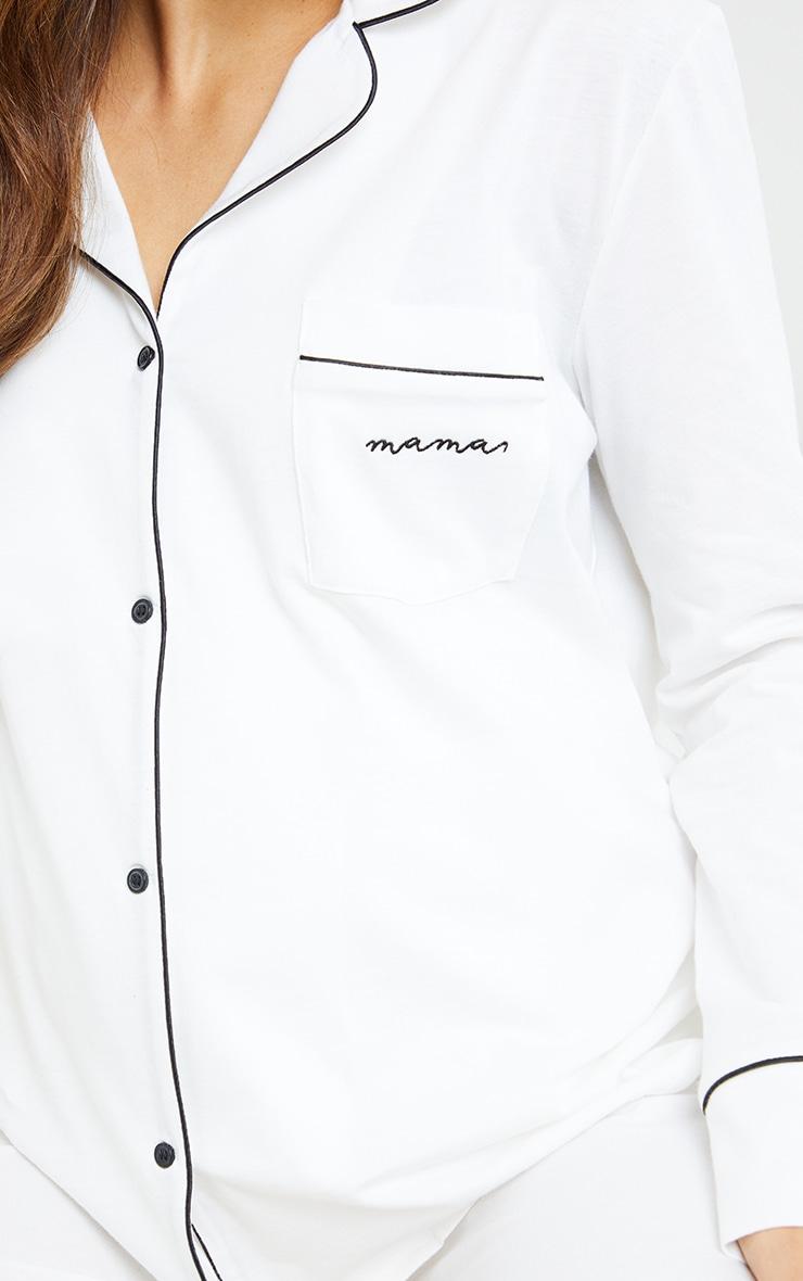 PLT Maternité - Haut de pyjama à manches longues blanc imprimé Mama 4