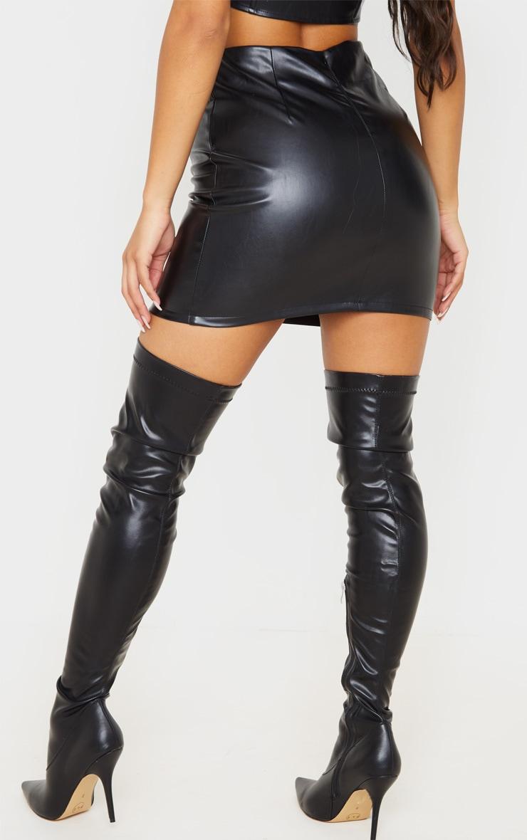 Black PU Mini Skirt 4