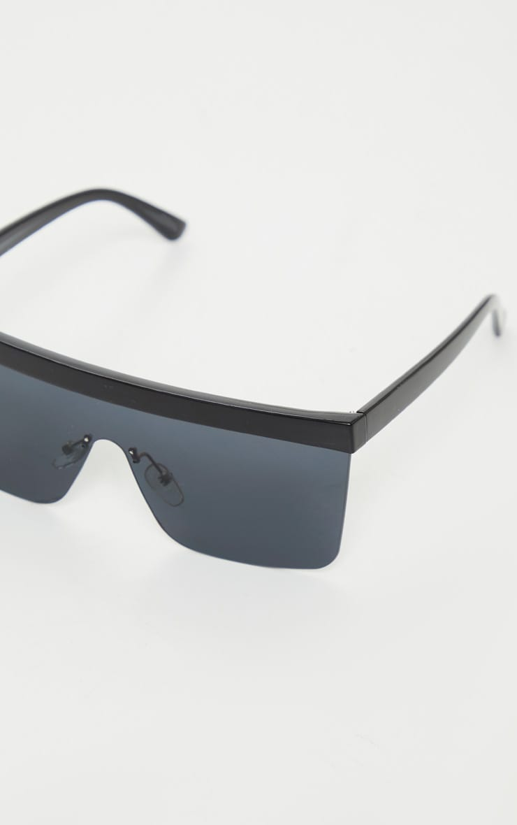Black Chunky Frameless Sunglasses 3