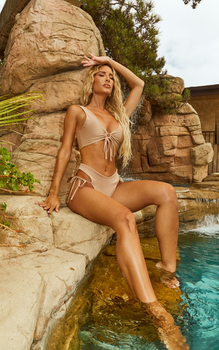 Sand Tie Side High Leg Bikini Bottoms 3