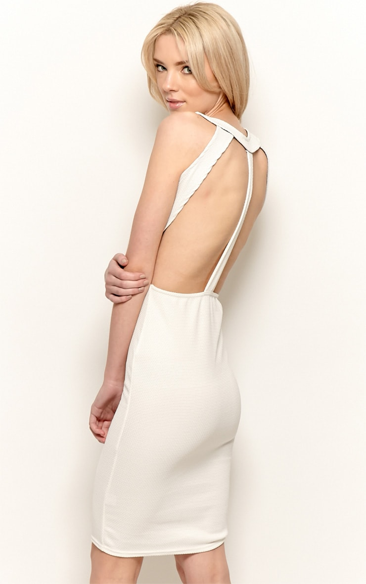 Zelia Beige Backless Dress 3
