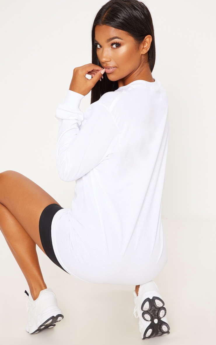PRETTYLITTLETHING White Long Sleeve Tshirt 2