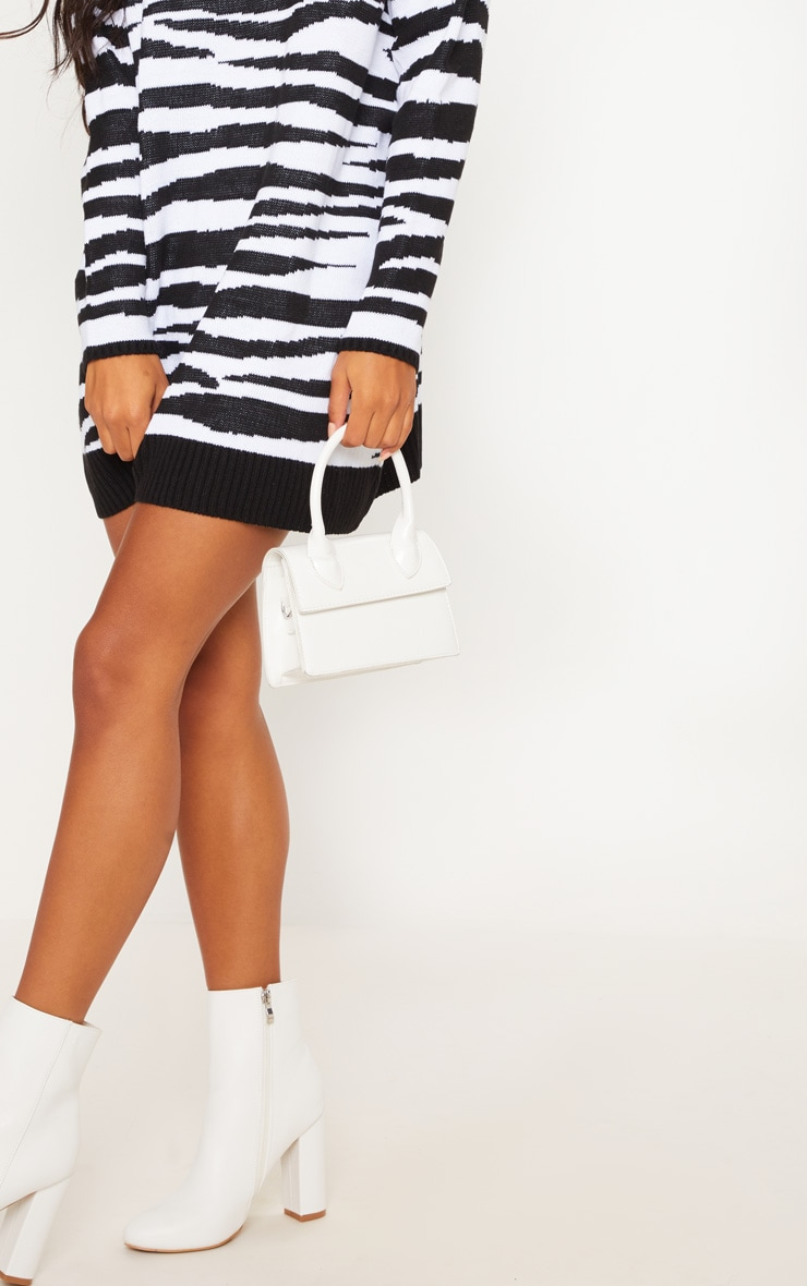 Zebra Print Jumper Dress  5