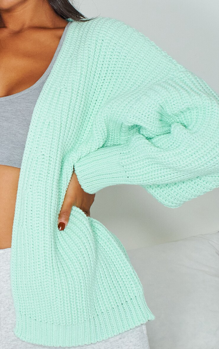 Mint Chunky Knit Slouchy Cardigan 4