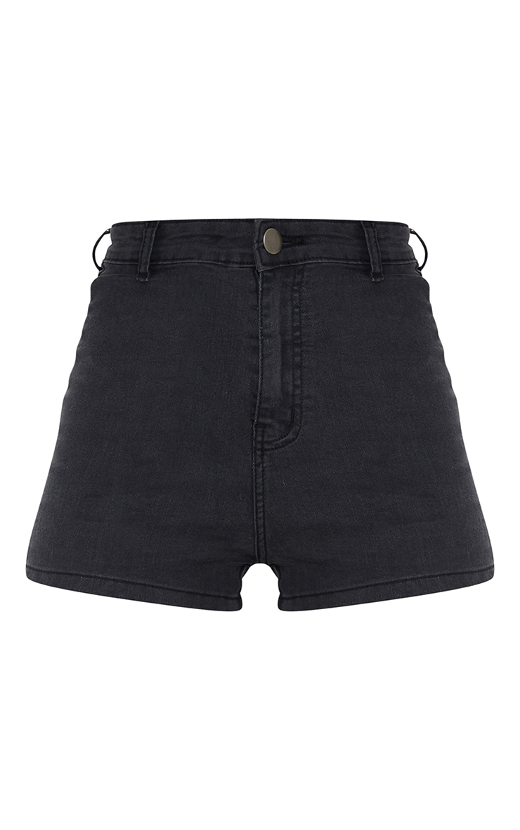 Washed Black Disco Short  6