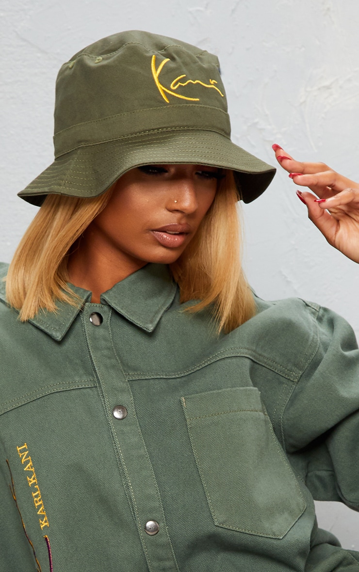 KARL KANI Khaki Embroidered Bucket 2