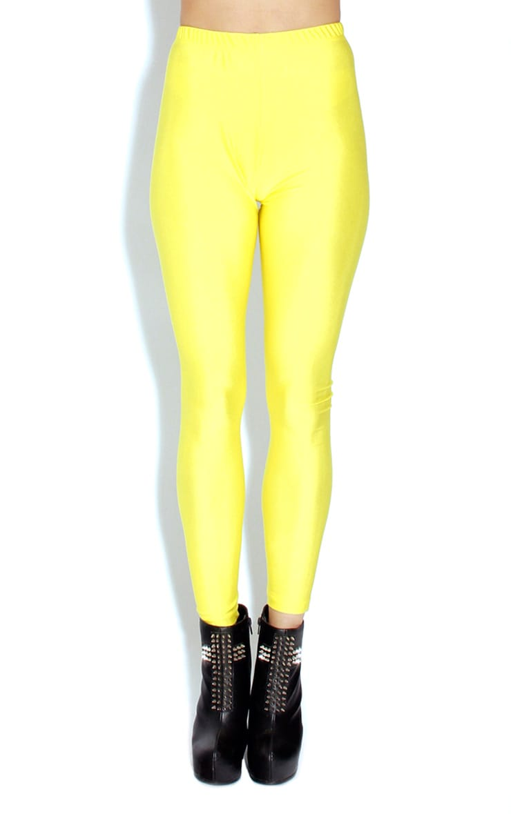 Chloe Yellow High Waisted Disco Pants 1