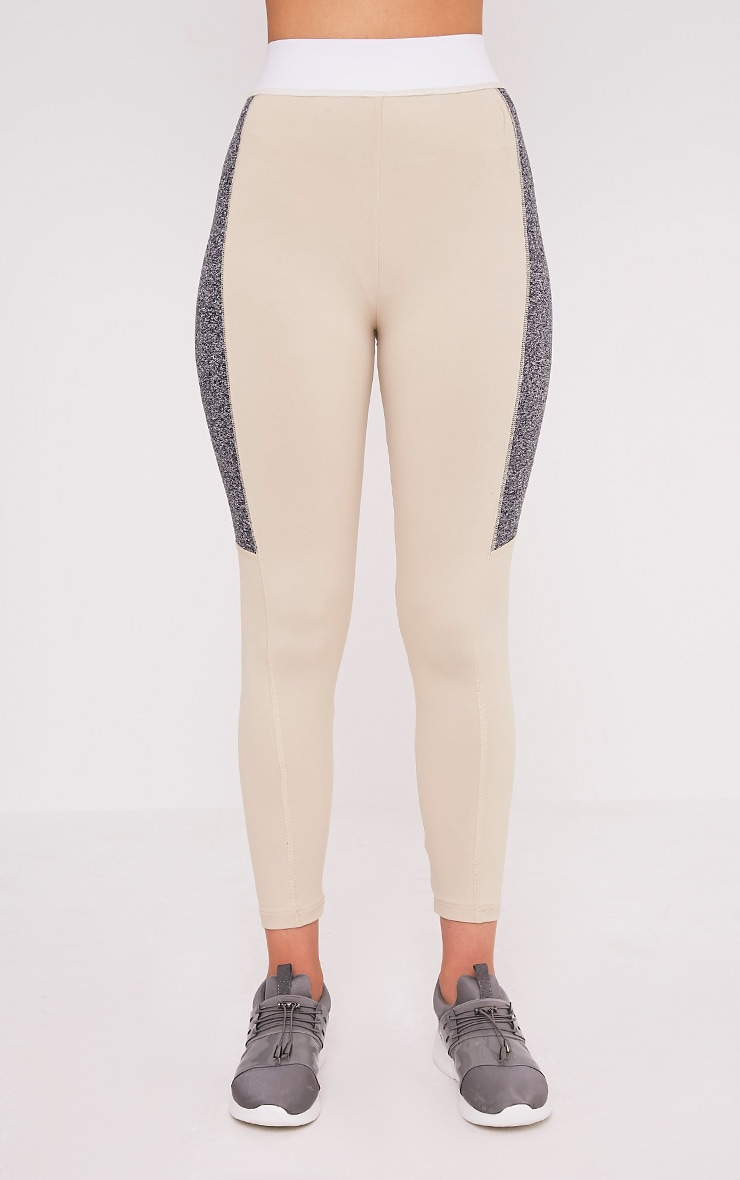Isadora Stone Panelled Gym Leggings 2