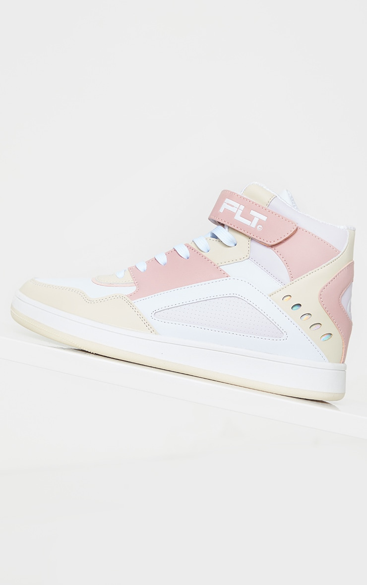PRETTYLITTLETHING Pink Strap High Top Trainers 4