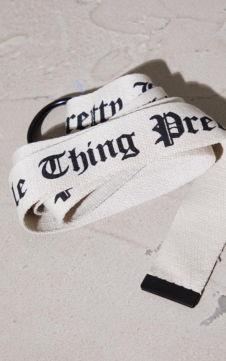 PRETTYLITTLETHING Stone Gothic Font Taping Belt 3