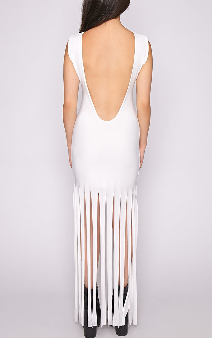 Laurel White Tassel Maxi Dress 4
